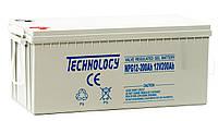 Аккумулятор GEL 12В 200Ач TECHNOLOGY NPG12-200