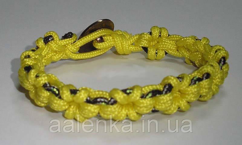 Браслет из паракорда Веночек, желтый