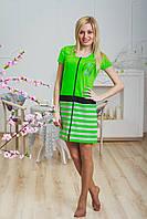 Легкий женский халат салатовый, фото 1