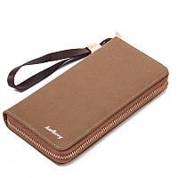 Чоловічий гаманець BAELLERRY Retro Canvas Wallet портмоне з ремінцем Коричневий (SUN2819), фото 1