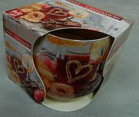Свічка ароматизована в склі 100 г Яблуко-кориця №27293 Свеча ароматизированая в стекле Яблоко-корица