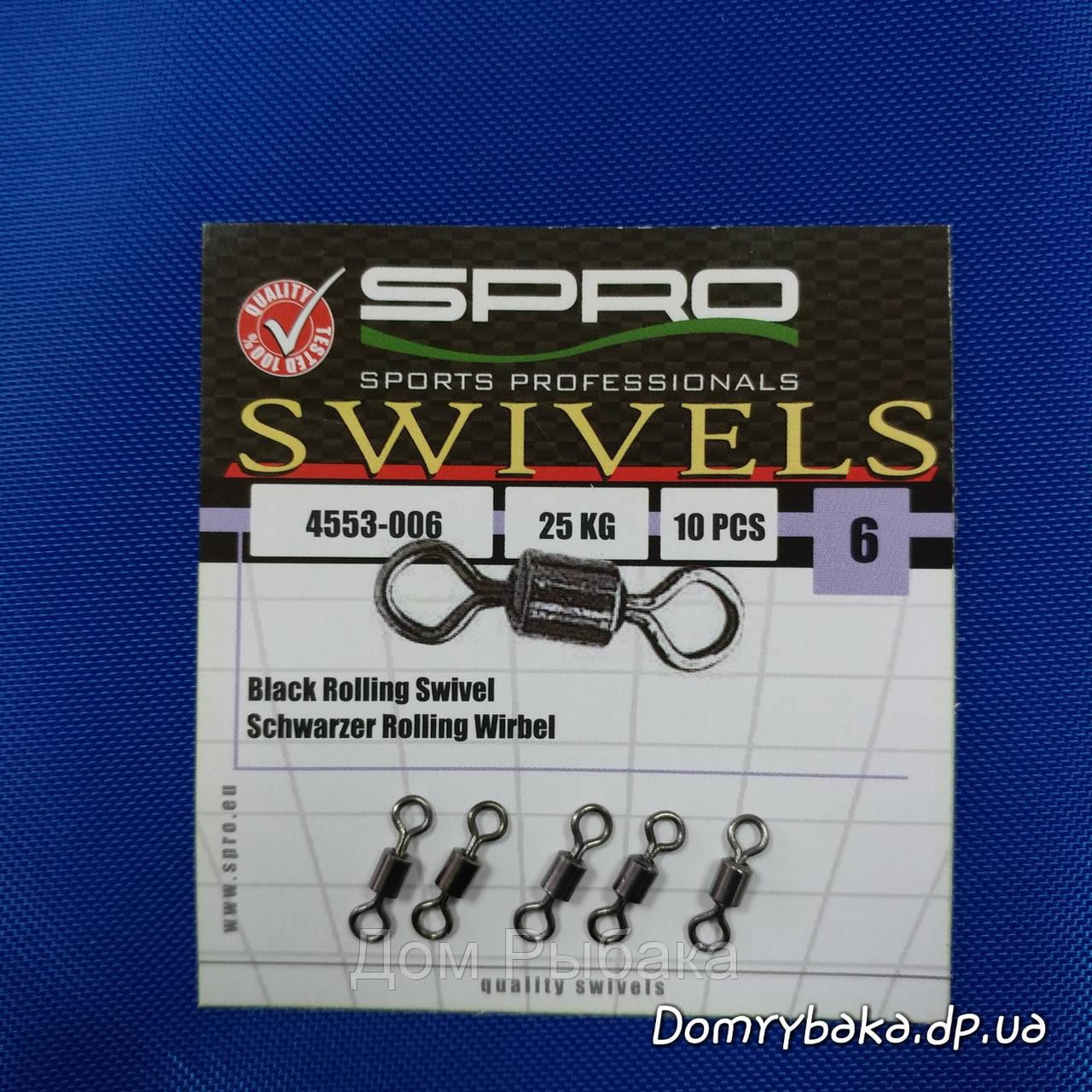 Вертлюг  Spro Rolling swivell #6 25кг 10шт (4553006), фото 1