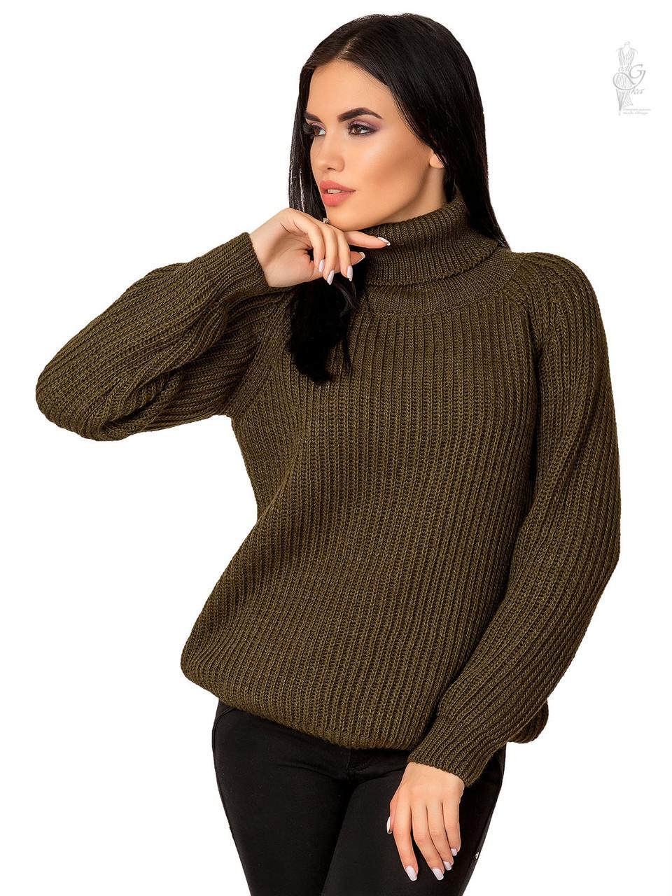 Женский свитер оверсайз Мара из шерсти и акрила