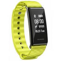 Фитнес браслет умные часы Xuawei Color Band A2 AW61 Цвет: желто-зеленый