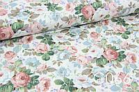 Ткань сатин Розы винтаж, фото 1