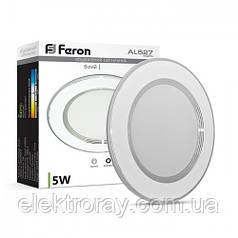 Светодиодный светильник Feron 5W 400lm 2700k встраиваемый белый