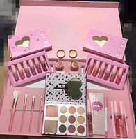 Большой профессиональный набор в стиле Kylie I want it all. Набор розовый
