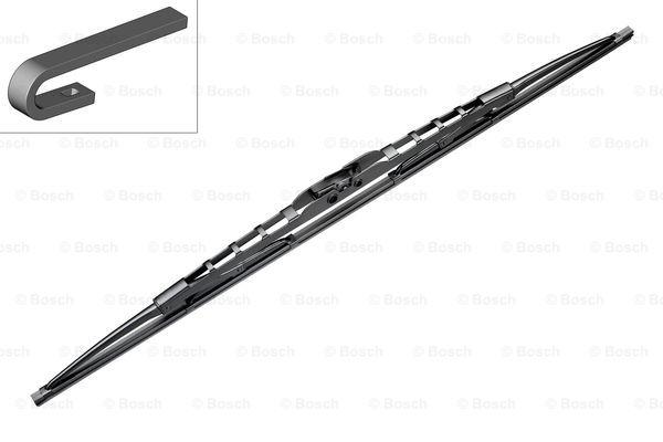 Щетка стеклоочистителя каркасная BOSCH Twin 500мм (узкая), DAF, IVECO, RENAULT