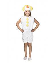Костюм Снеговика желтый рост 110-122 см, маскарадный, детский на новогоднее выступление