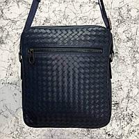 dc2388bf1655 Мужская сумка мессенджер Bottega Veneta Messenger Bag In Espresso через  плече плечевая темно синяя кожана