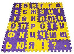 Украинский алфавит, коврик - пазлы