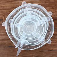 Растягивающиеся силиконовые крышки для посуды 5шт