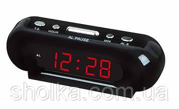 Часы Vst 716-1 Red LED настольные часы