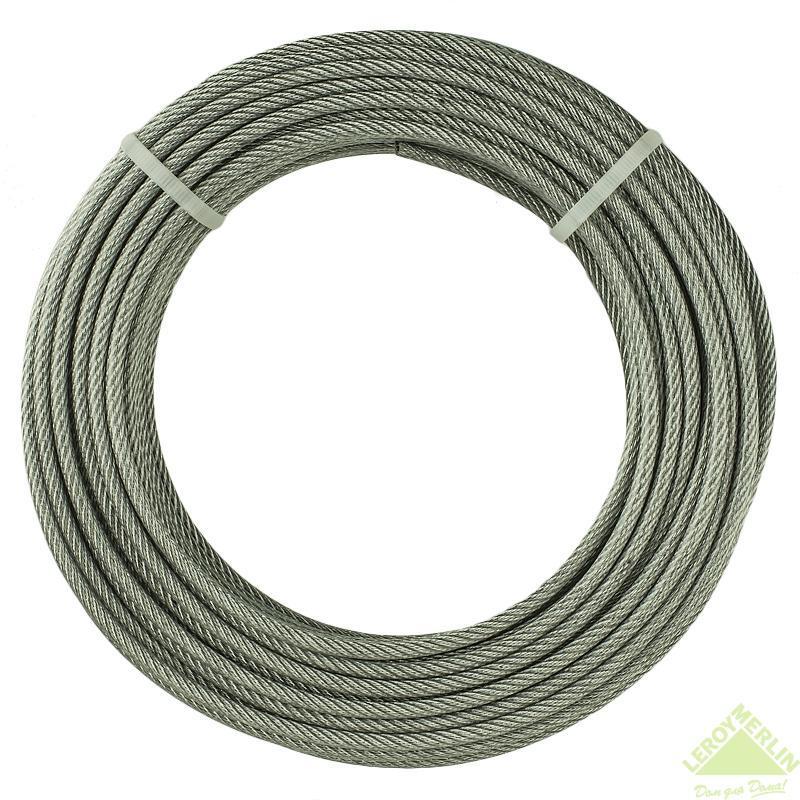 Трос оцинкований в ПВХ оболонці 1,5 мм/2,5 мм