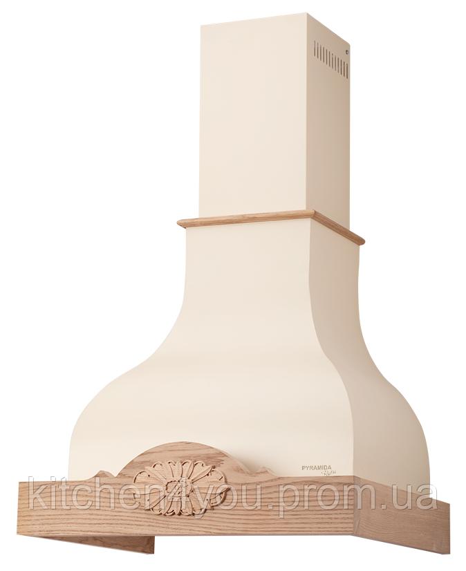 Pyramida Margarita 60 ivory кухонна витяжка, слонова кістка