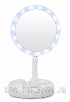 Настольное зеркало с LED подсветкой