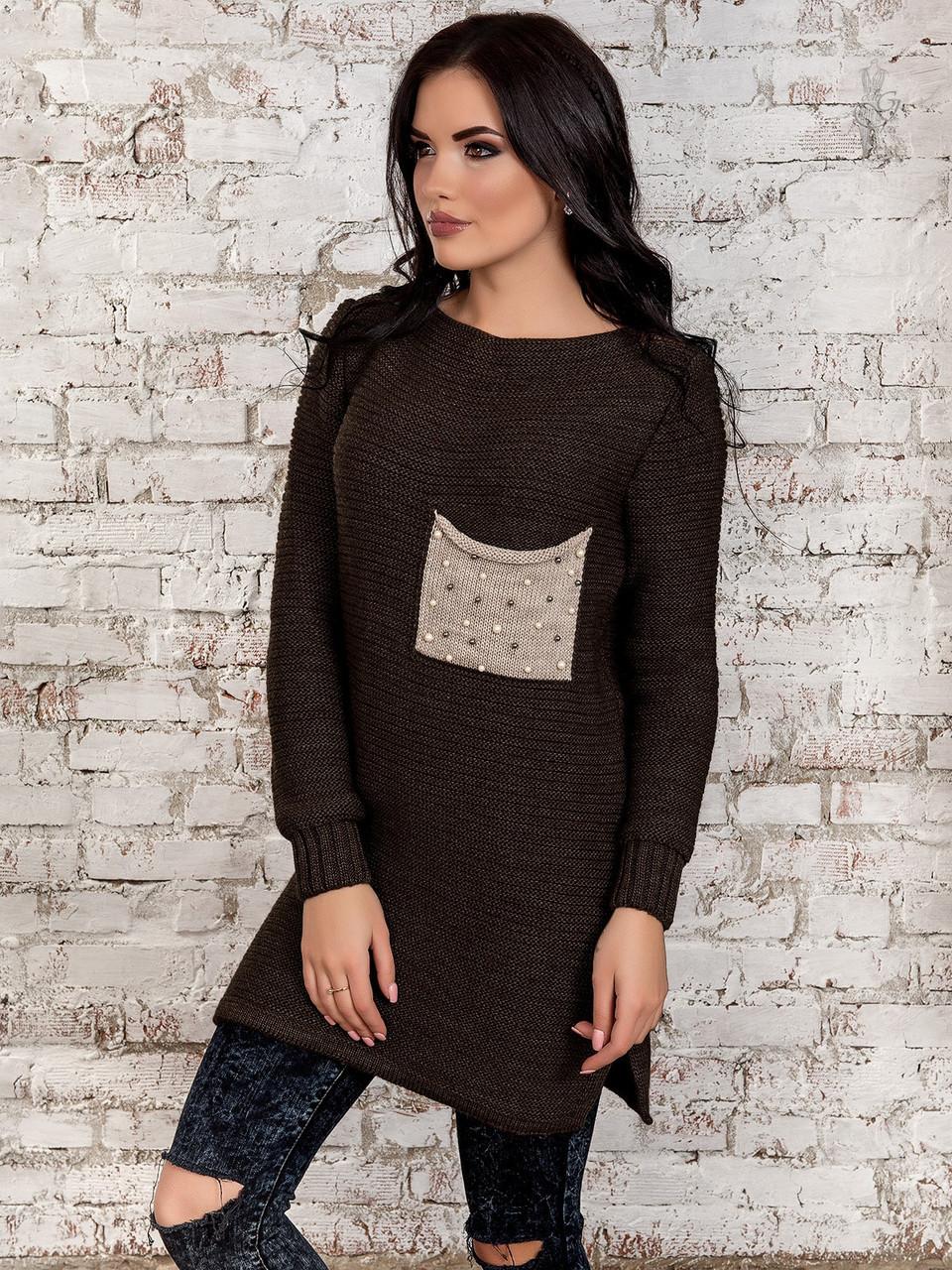 baa13bea2664ff1 Вязаные платья туники Камила-6 - Интернет магазин женской одежды в Харькове