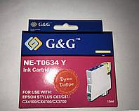 Картридж Epson St. C67, (T06344/NE-T0634), yellow, G&G