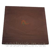 Плита парапетная 480х480 коричневая