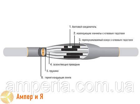 Муфта соединительная термоусаживаемая 5 ПСТпБ-1 (25-50) Термофит, фото 2