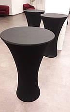 Стрейч чохол на стіл 60/110 Кругла опора з щільної тканини Спандекс, фото 3