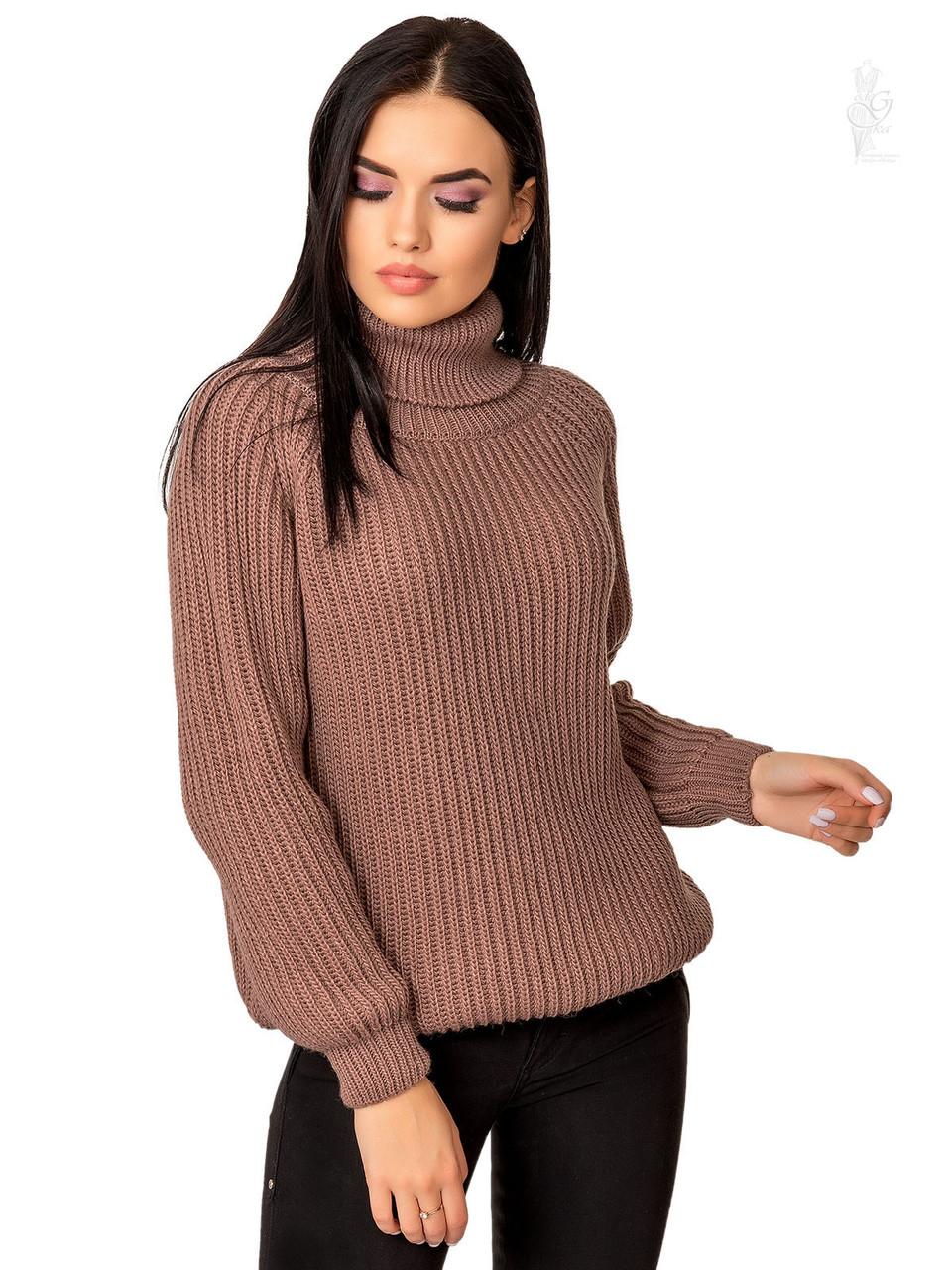 Женский свитер оверсайз Мара-1 из шерсти и акрила