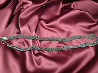Металлический пояс из цепочек графитовый металлик