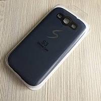 Силиконовый тёмно-синий чехол Samsung Galaxy S3 i9300, S3 Duos