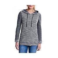 Пуловер Eddie Bauer Womens Kapuzenpullover NAVY MELIERT L Серый , фото 1