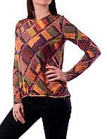 Пуловер Velna О-5167 44 Оранжевый с разноцветным , фото 1
