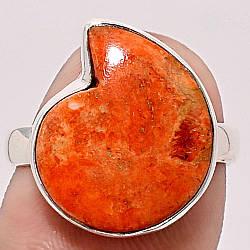 Коралл губчатый, 14*17 мм., серебро 925, кольцо, 1441КЦК