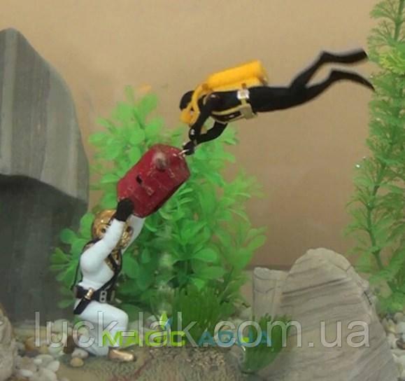 Декор для аквариума, охотники за сокровищами, авалангисты