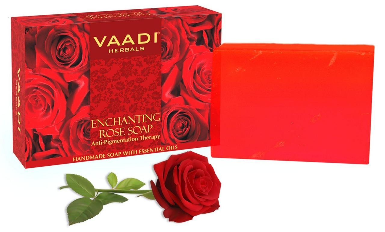 """Мыло для лица Vaadi """"Чарующая роза"""" от пигментных пятен, омолаживающее, увлажняющее"""