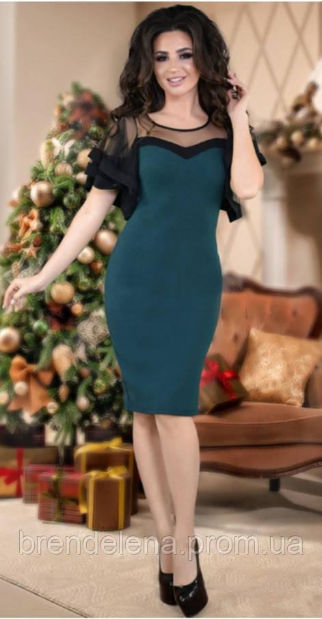 Шикарне плаття,смарагд 42-48рр