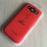 Силиконовый красный чехол Samsung Galaxy S3 i9300, S3 Duos, фото 1