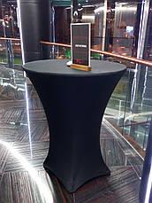 Стрейч чохол на стіл 80/110 Чорний з щільної тканини Спандекс, фото 2