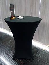 Стрейч чохол на стіл 80/110 Чорний з щільної тканини Спандекс, фото 3