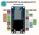 Микроконтроллер ESP8266 CH340, плата разработчика Arduino, Wi-Fi, фото 3