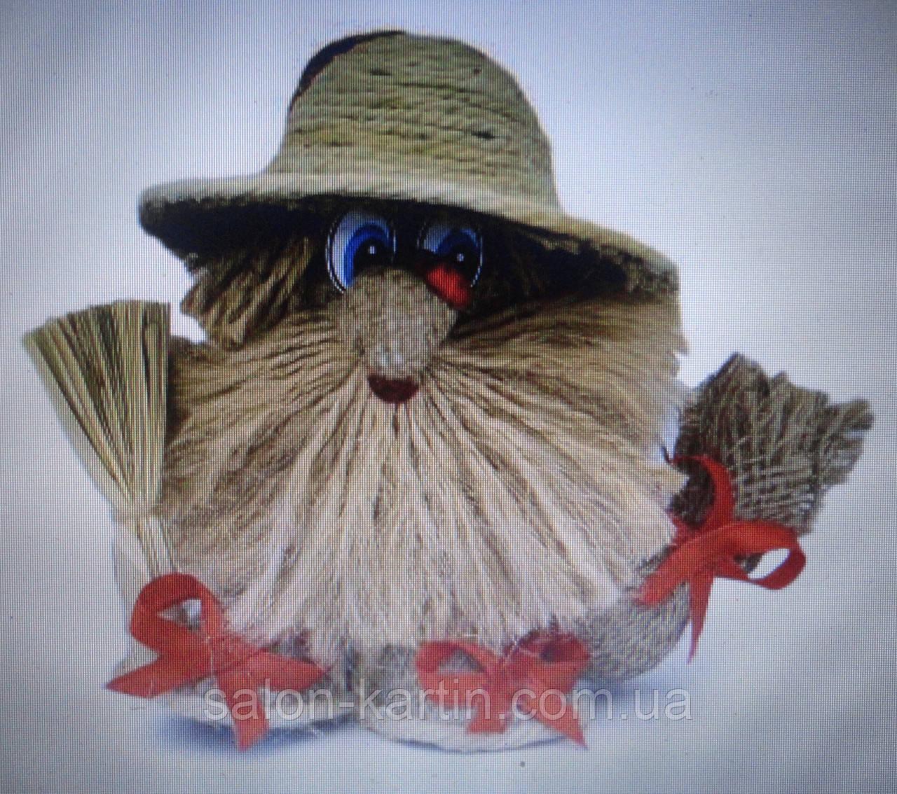 Оберег: домовенок Спиридон в шляпе