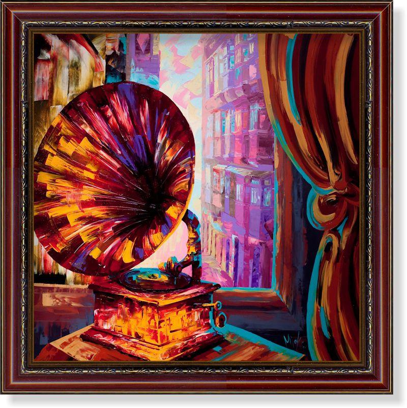 Репродукция  современной картины Мика Вико (Мальта)  «Любимая музыка старого города» 30 х 30 см