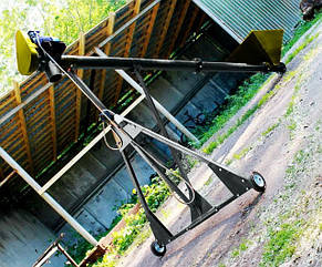 Шнековый транспортер (винтовой конвейер) в трубе 159 мм, длинной 4 м, 10 т\час, двигатель 2.2 кВт