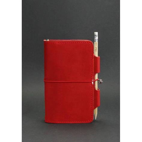Женский кожаный блокнот (Софт-бук) 3.0 коралловый, фото 2