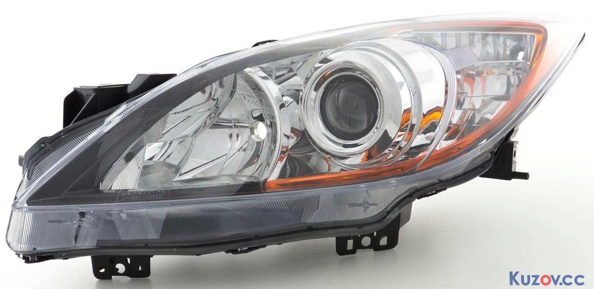 Фара правая Mazda 3 BL '09-12 H11+HB3 мех./эл. (TYC) BBP2510K0G