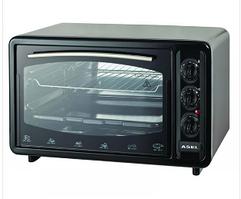 Электрическая духовка тостер-печь Asel  AF-33-23 33л. с таймером /черная/