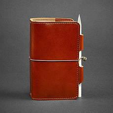 Кожаный блокнот (Софт-бук) 3.0 светло-коричневый, фото 3