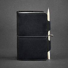 Кожаный блокнот (Софт-бук) 3.0 черный, фото 3