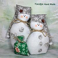 """Новогодняя игрушка ручной работы """"Снеговички"""""""