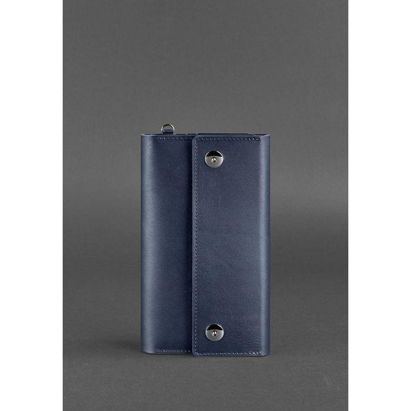 Кожаный клатч-органайзер (Тревел-кейс) 5.0 Темно-синий