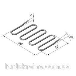 ТЭН 131 С 8/1,1 Т 220 ГК Верх для контактного гриля КИЙ-В