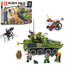 KM11694 Конструктор   военный, танк, трансорт, фигурки, 438дет, в кор-ке, 42,5-28-7см